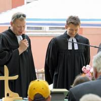 Pfarrer Zezula und Pfarrer Simmer