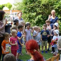 Die Kindergartenkinder waren in den Gottesdienst eingebunden