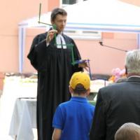 Die Predigt wurde für die Kinder anschaulich gestaltet