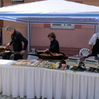 Live Cooking im Gottesdienst (Dank an Firma Parzer & Reibenwein)